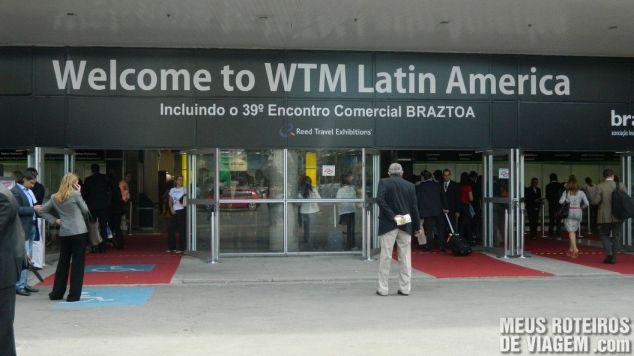 Entrada da WTM Latin AMerica