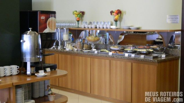 Café da manhã do Comfort Hotel Joinville