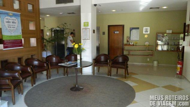 Recepção do Comfort Hotel Joinville
