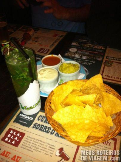 Mojito e Nachos do Guacamole - Balneário Camboriú