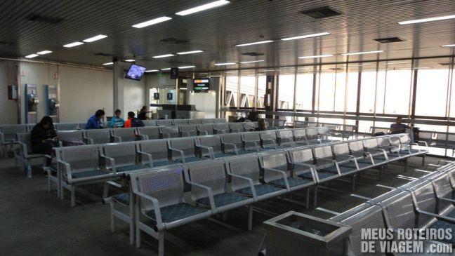 Embarque na área antiga do Terminal A do Aeroporto de Ezeiza - Buenos Aires
