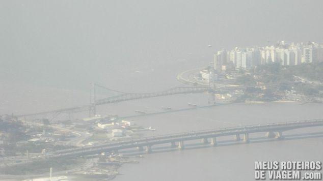 Vista aérea da Ponte Hercílio Luz - Florianópolis