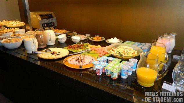 Café da manhã do Novotel Buenos Aires