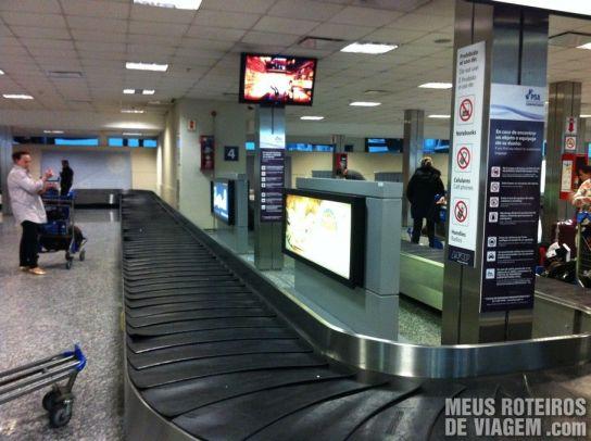 Esteiras de bagagem do Aeroporto de Ezeiza - Buenos Aires
