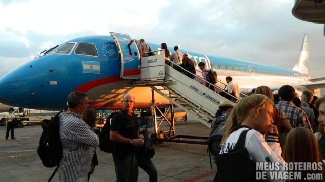 Avião da Austral no Aeroparque - Buenos Aires