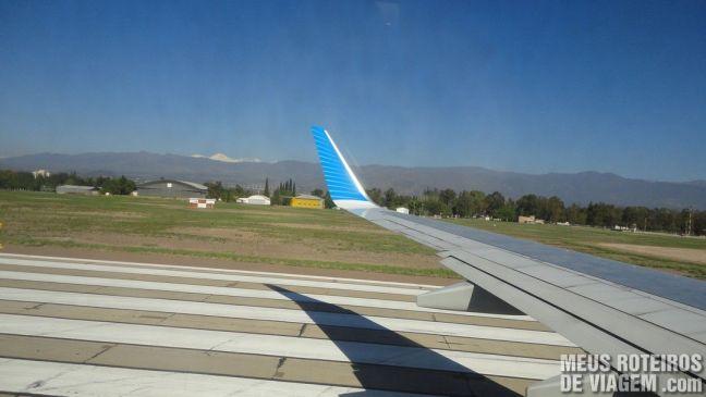 Decolando no aeroporto de Mendoza
