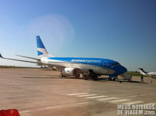 Boeing 737-700 da Aerolineas Argentinas no aeroporto de Mendoza