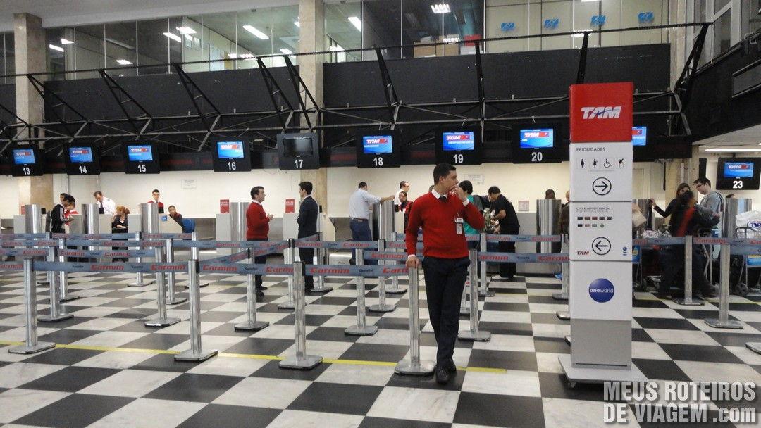Check-in da TAM no Aeroporto de Congonhas São Paulo