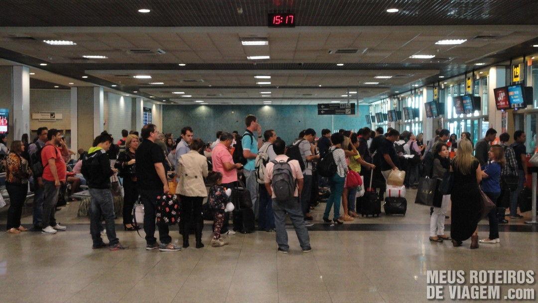Sala de embarque remoto Aeroporto de Congonhas São Paulo