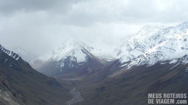 Tempo fechado na Cordilheira dos Andes - Argentina