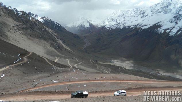 Estrada para o Cristo Redentor de Los Andes