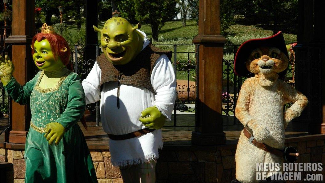 Personagens Shrek - Parque Beto Carrero World, Penha/SC