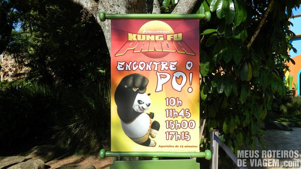 Espaço para ver o Kung Fu Panda