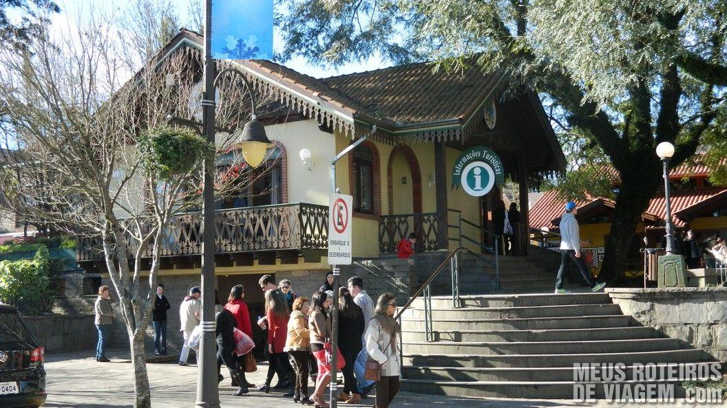 Posto de Informações Turísticas na Praça Major Nicoletti - Gramado
