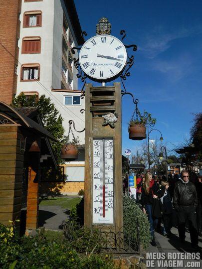 Termômetro de rua - Gramado