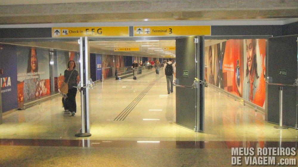 Início do acesso ao T3 no terminal 2 do Aeroporto de Guarulhos