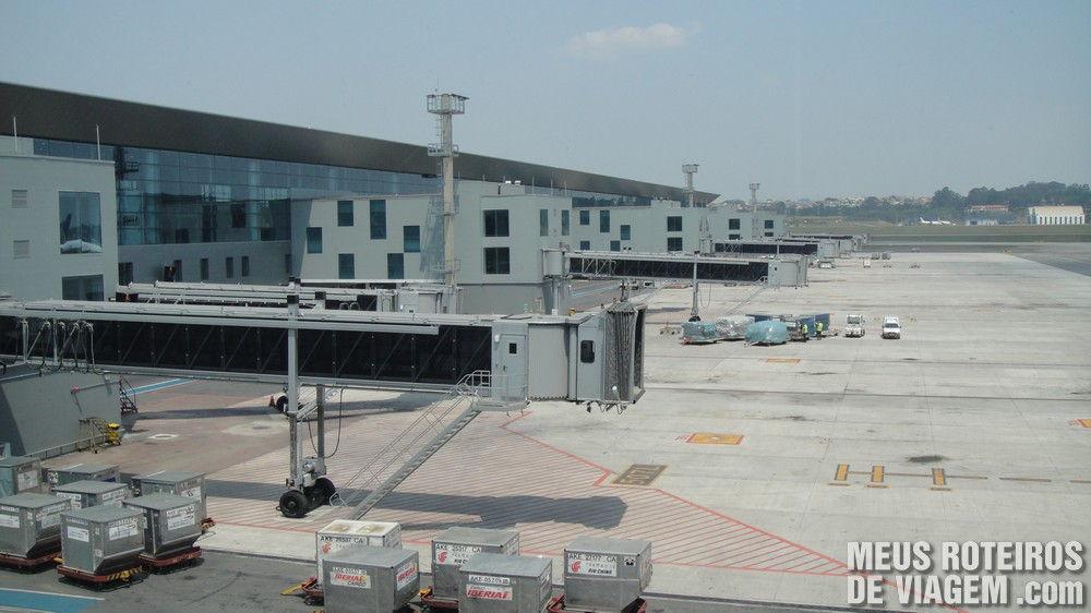 Pontes de embarque no Terminal 3 do Aeroporto de Guarulhos