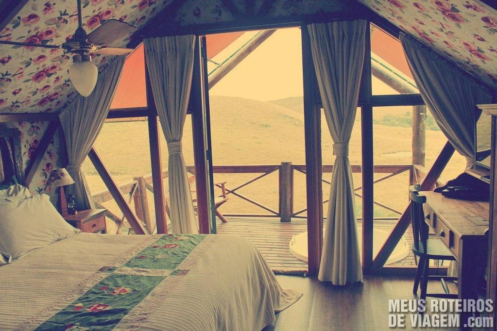 Apesar de simples por fora as cabanas oferecem muito conforto no seu interior