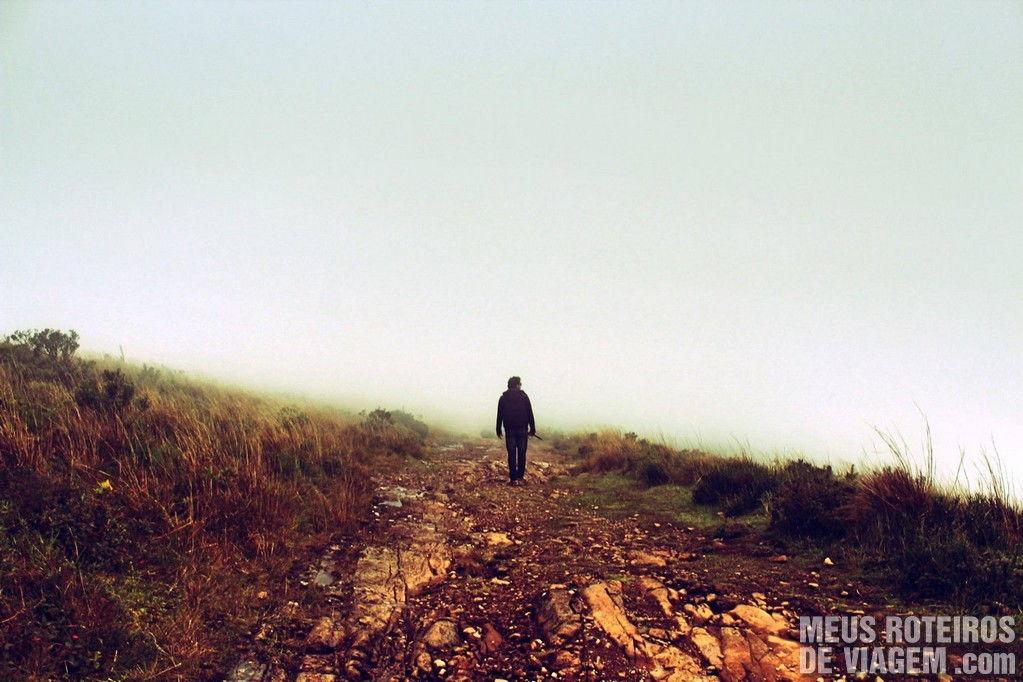 Na volta, a neblina tomou conta do Cânion Fortaleza