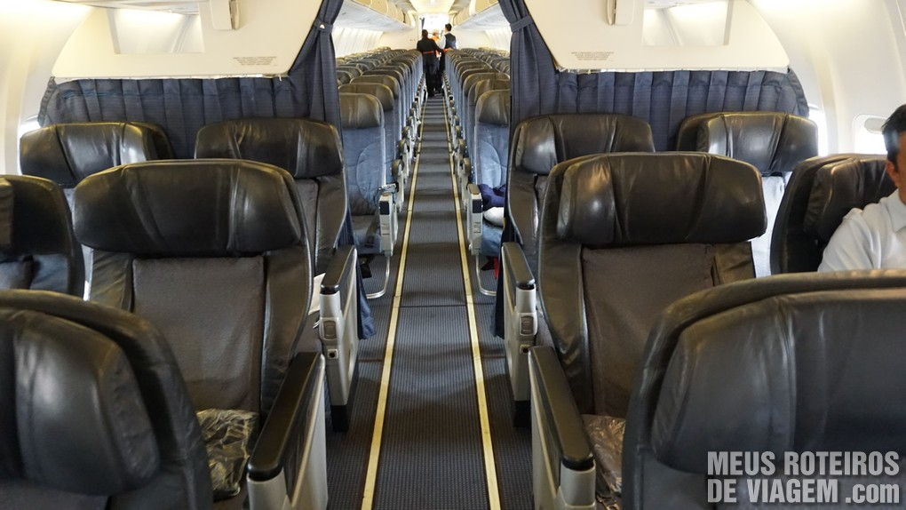 Poltronas da Classe Executiva no Boeing 737 da Aeromexico