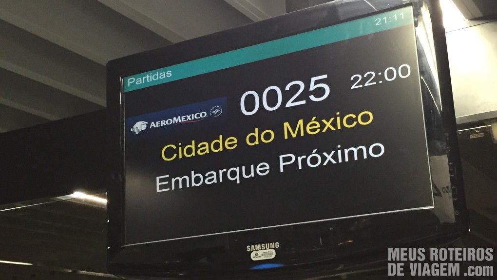 Tela do voo no Aeroporto do Galeão - Rio de Janeiro