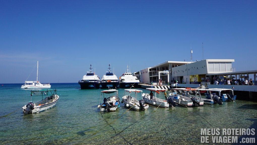 Estação do ferry de passageiros em Cozumel - México