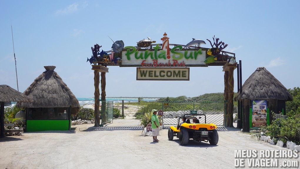 Entrada do Punta Sur Eco Beach Park - Cozumel, México