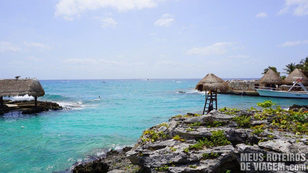 Área para mergulho no Parque Xcaret - México
