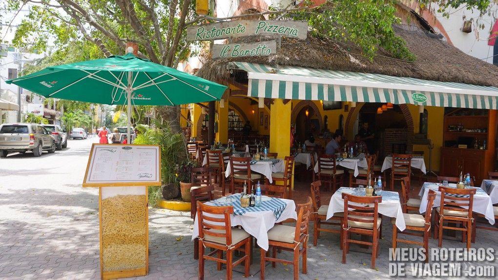 "Restaurante ""Il Barreto"" - Playa del Carmen, México"