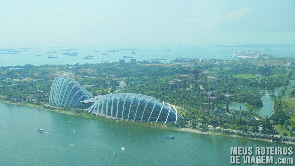 Vista da Roda gigante Singapore Flyer - Cingapura