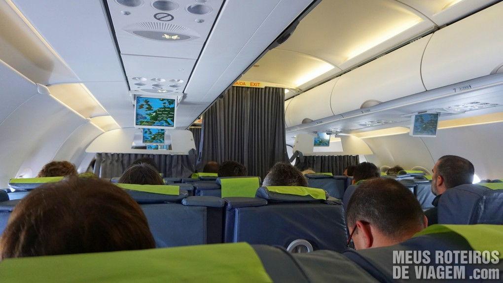Airbus A320 no voo entre Lisboa e Paris - TAP Portugal