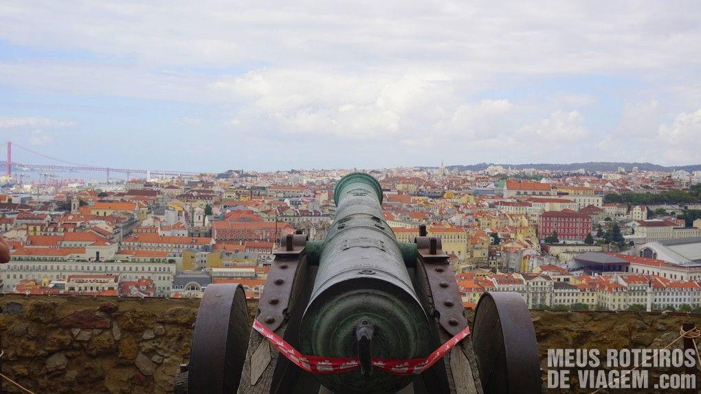Vista do mirante do Castelo de São Jorge - Lisboa, Portugal