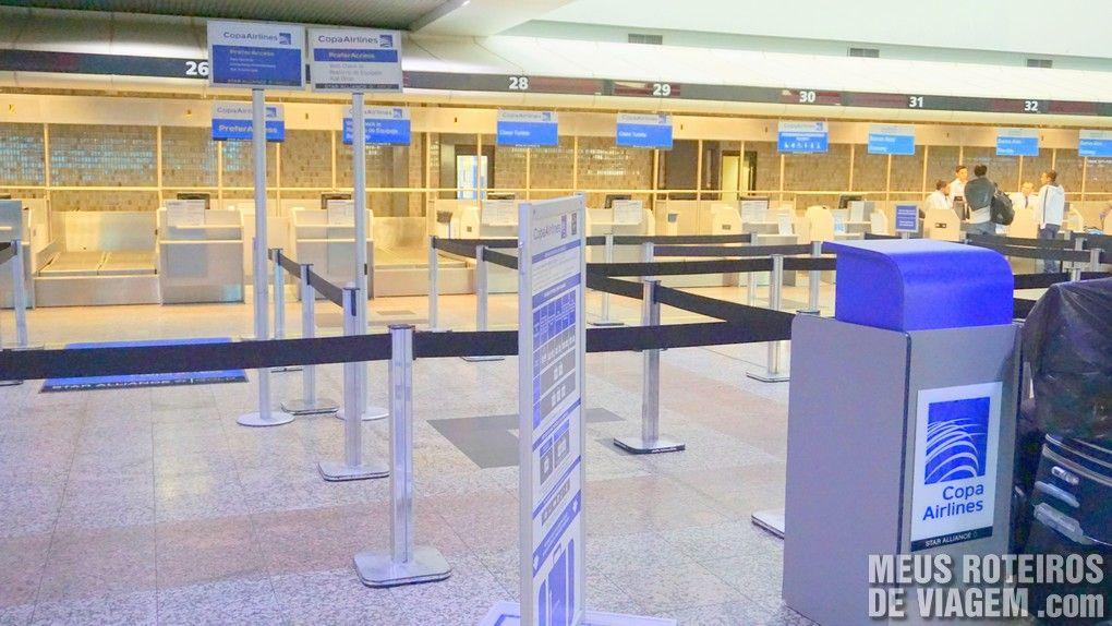 Check-in da Copa Airlines em Porto Alegre
