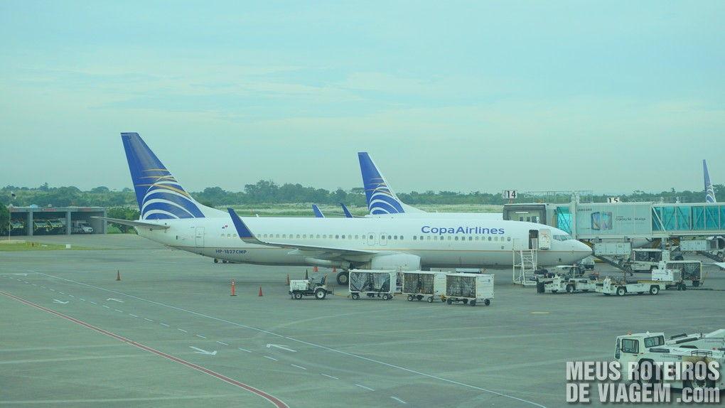 Aviões da Copa no Aeroporto da Cidade do Panamá