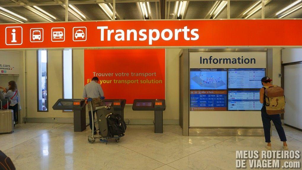 Informações sobre transporte para a cidade - Aeroporto de Paris-Orly