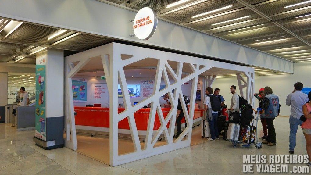 Informações turísticas no desembarque - Aeroporto de Paris-Orly