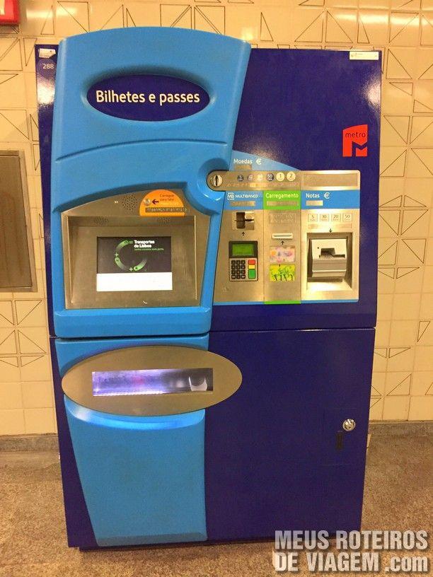 Máquina para comprar bilhetes - Metrô de Lisboa
