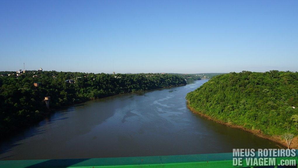 Rio Iguaçú - Divisa entre Argentina e Brasil