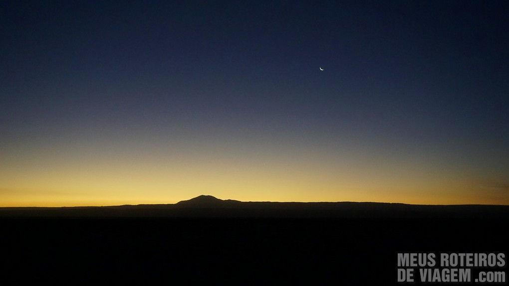 Por do sol em San Pedro de Atacama, Chile