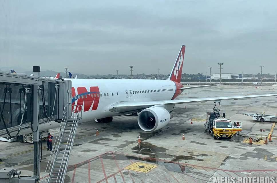 Boeing 767 da Latam em Guarulhos