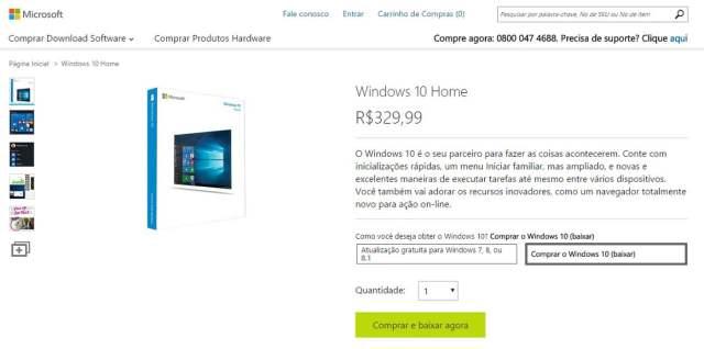 Resultado de imagem para comprar windows 10