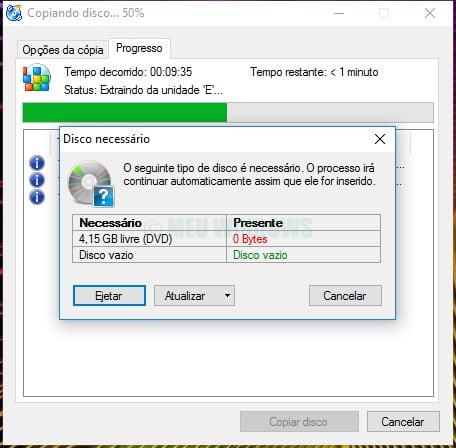 Copiar um CD ou DVD com CDburnerXP