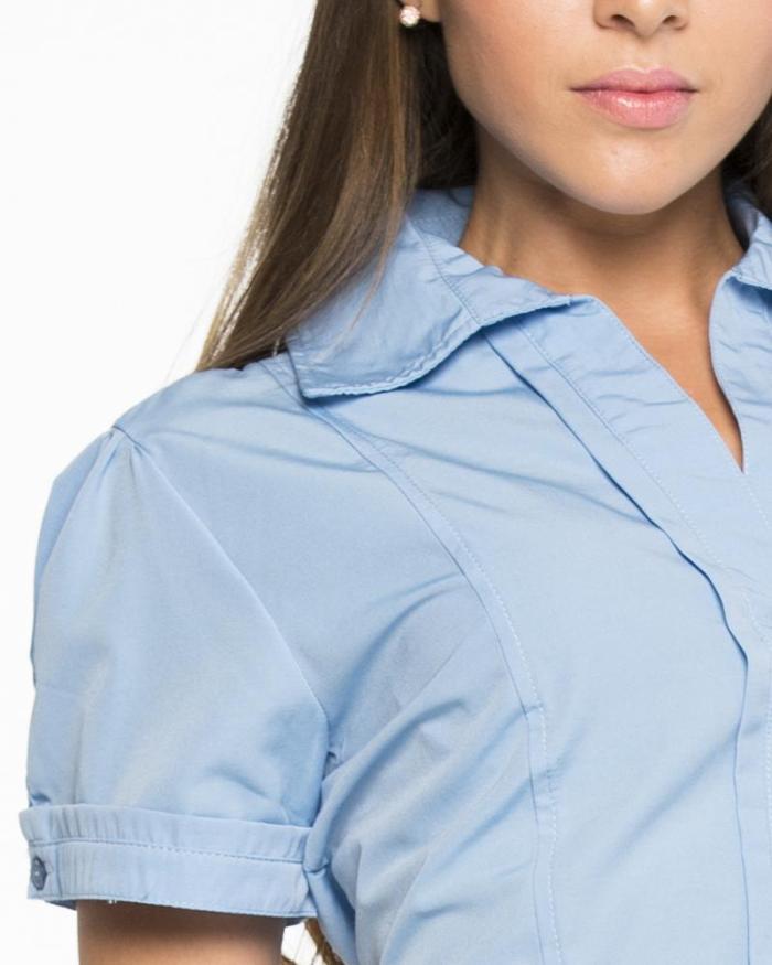 Uniformes empresariales para Mercaderistas M39 detalle cuello