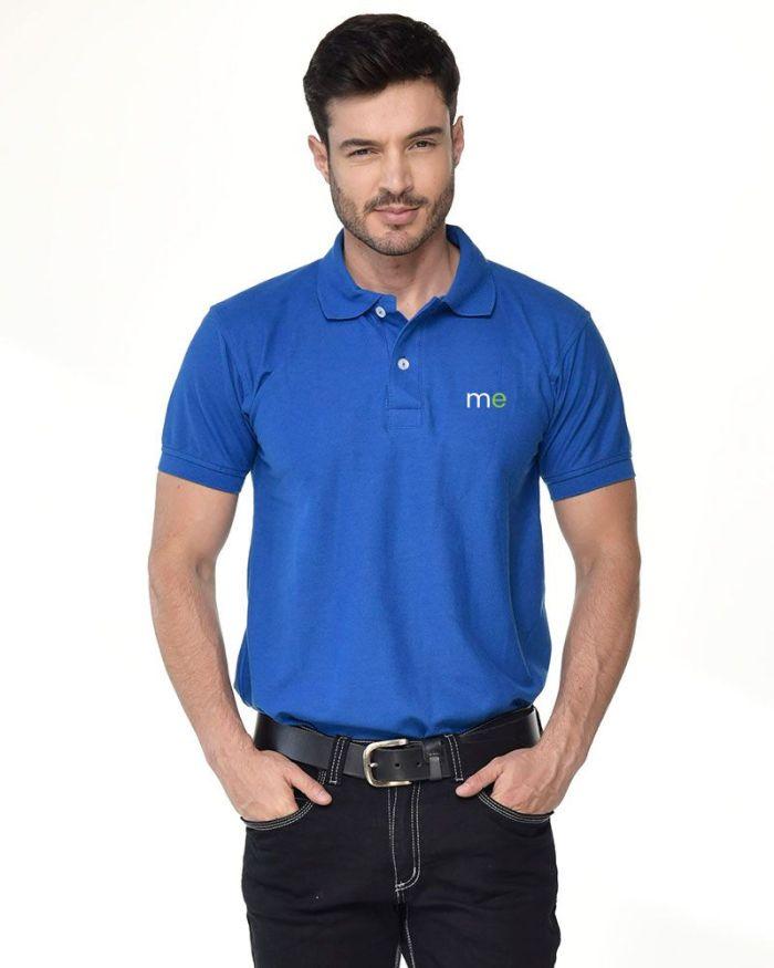 camisa tipo polo azul rey de hombre p16-3