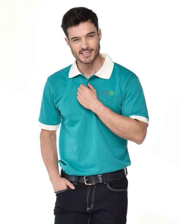 camisa tipo polo cuello y mangas blancas p19-2