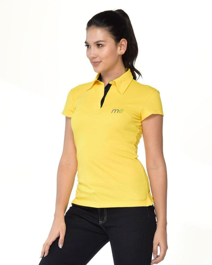 camisa amarilla tipo polo de dama p23-2