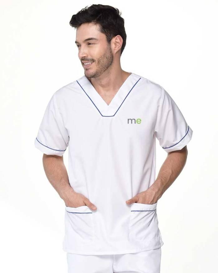 camisa cuello v antifluidos de hombre s16-2