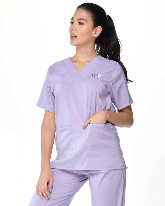 uniforme antifluido lila de dama s18-1