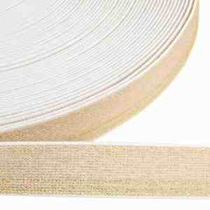 Elastiek lurex goud 25mm
