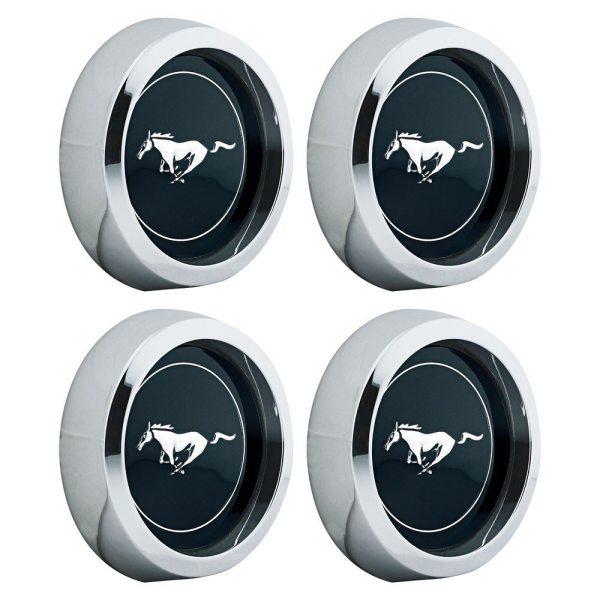 """Set De 4 Centros Tapas 2 1/8"""" Para Rines Magnum 500 Ford Mustang"""